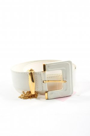 Escada Leather Belt white-gold-colored elegant