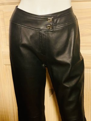 Escada Leather Trousers black leather