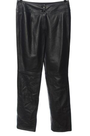 Escada Pantalone in pelle nero stile casual