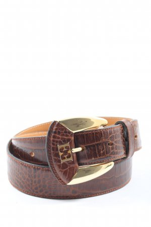 Escada Cinturón de cuero de imitación marrón-negro look casual