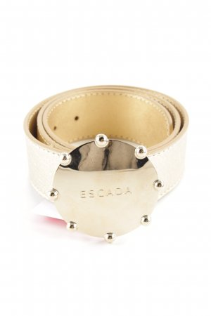 Escada Faux Leather Belt gold-colored casual look