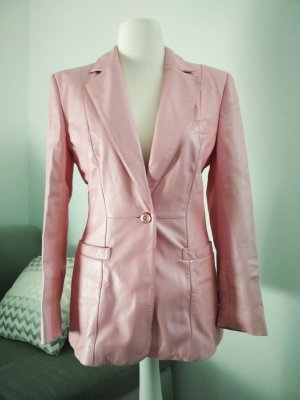 Escada Lederjacke rosa tailliert 100% Lammnappa Leder