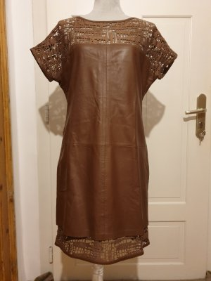 Escada Leather Dress brown