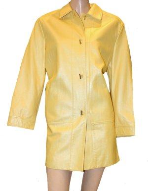 Escada Abrigo de cuero amarillo Cuero