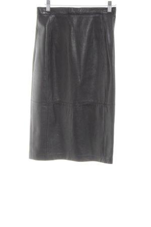 Escada Falda de cuero negro estilo «business»