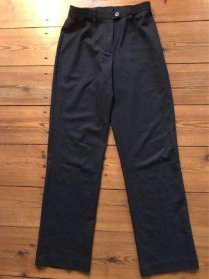 Escada: Leichte Hose, geschurte Wolle, Gr. 34/ s / xs, gerader Schnitt, dunkelblau