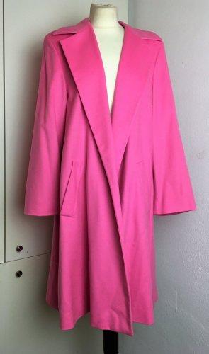 * ESCADA * LEICHTER oversize KASCHMIR WOLLE MANTEL ÜBERGANG schwingend rosa pink Gr 36 38 M S L