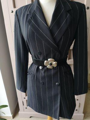 Escada Long Blazer Gr 38 Streifen Blazer Luxus Figurbetont Jacket