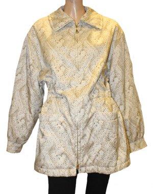 ESCADA Long Jacke Übergang gold weiß braun Gr. 44-48