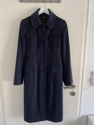Escada Manteau en laine bleu foncé