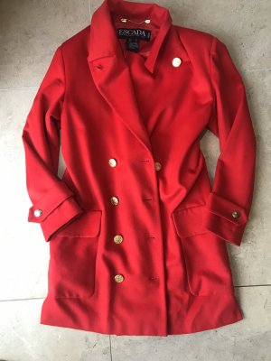 ESCADA Mantel Luxus Pur Rot Wollmantel Kaschmirmantel Cashmere vintage