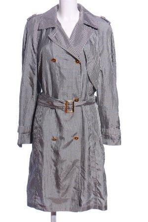 Escada Margaretha Ley Floor-Lenght Coat black-white check pattern casual look