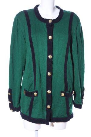 Escada Margaretha Ley Cardigan grün-schwarz Casual-Look