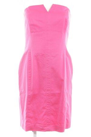 Escada Margaretha Ley schulterfreies Kleid pink Casual-Look