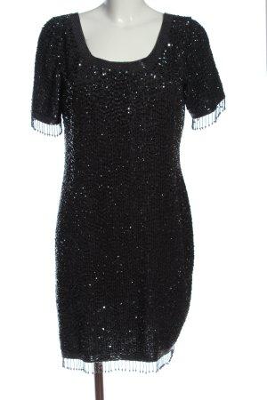 Escada Margaretha Ley Robe en laine noir style mouillé