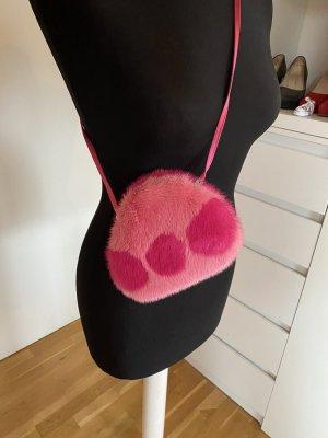 Escada Nerz Handtasche pink