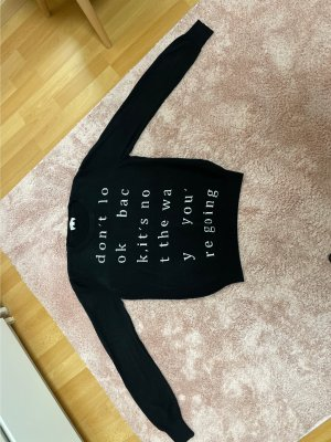 Escada Jersey de cuello redondo negro-blanco