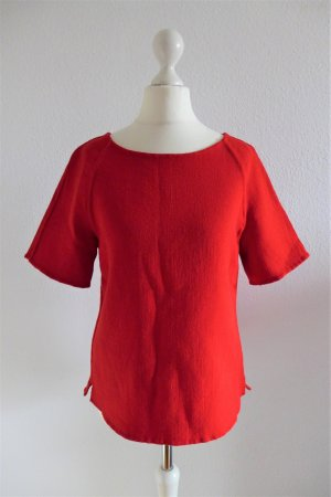 Escada Oberteil Top Shirt Pulli Pullover Wolle rot cherry Gr. S 34 36