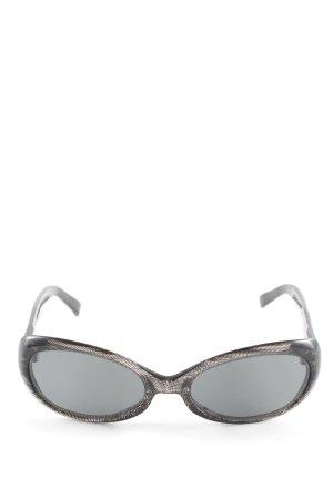 Escada ovale Sonnenbrille schwarz Schriftzug gedruckt Casual-Look