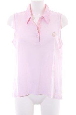 Escada Camiseta tipo polo rosa claro look casual