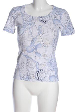Escada Print-Shirt abstraktes Muster Casual-Look