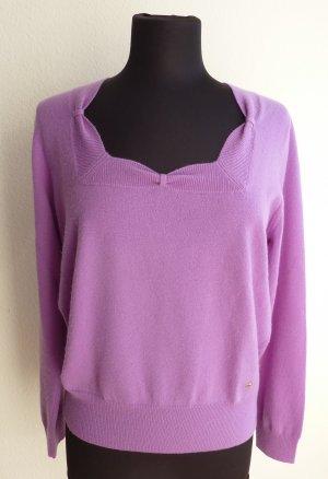 Escada Kaszmirowy sweter jasny fiolet-niebiesko-fioletowy