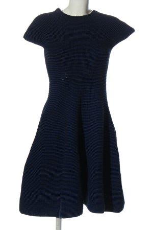 Escada Vestido tipo jersey negro-azul punto trenzado elegante