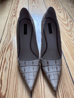Escada Pumps Krokoprägung