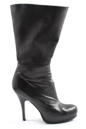 Escada Reißverschluss-Stiefeletten schwarz Casual-Look