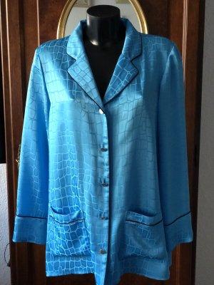 Escada Blusa kimono blu neon
