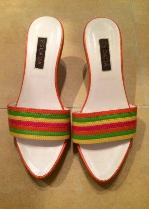 ESCADA Sandalen mit Holzabsatz