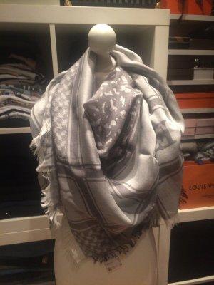 Escada Bufanda de seda gris claro-gris