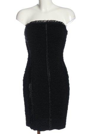 Escada schulterfreies Kleid schwarz Elegant