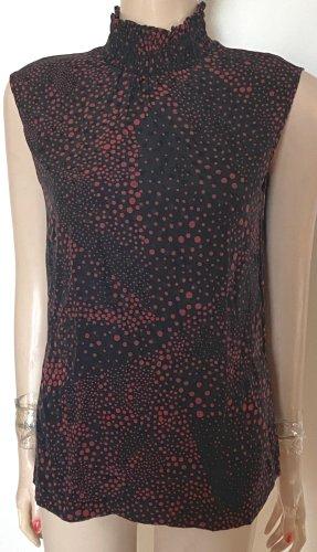 Escada Top in seta nero-rosso neon
