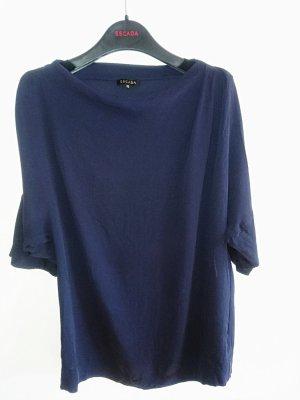 Escada Camisa con cuello caído gris pizarra-azul oscuro