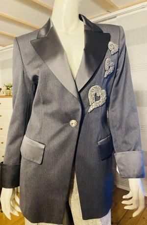 Escada Wool Blazer grey-black wool
