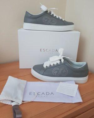 Escada Sneaker Grau Leder Gr. 39 NEU