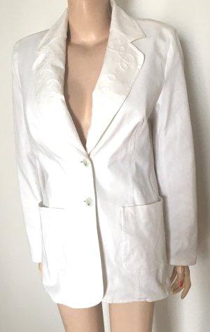 Escada Blazer en jean blanc coton