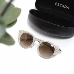 Escada Butterfly Glasses natural white-grey brown