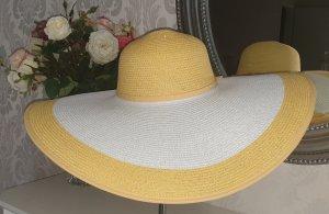 Escada Sombrero de ala ancha blanco-amarillo