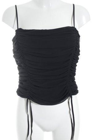 Escada Spaghettibandtopje zwart Band versieringen