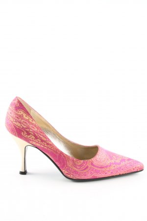 Escada Spitz-Pumps goldfarben-pink Mustermix Business-Look