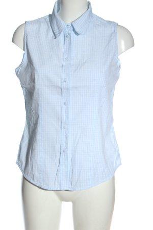 Escada Sport ärmellose Bluse blau-weiß Allover-Druck Casual-Look