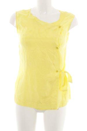 Escada Sport ärmellose Bluse gelb klassischer Stil