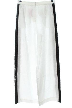 Escada Sport Baggy Pants weiß-schwarz Casual-Look
