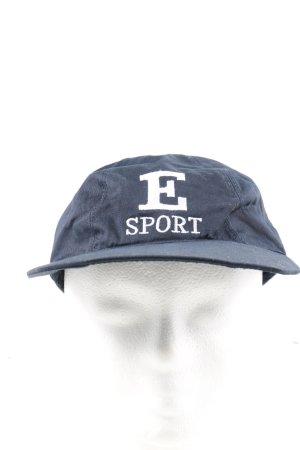 Escada Sport Gorra de béisbol azul letras impresas look casual