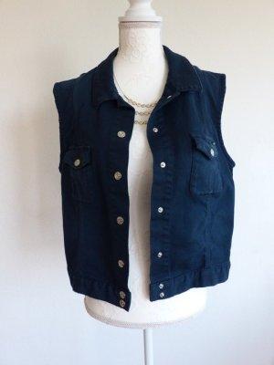 Escada Sport Denim Vest blue cotton
