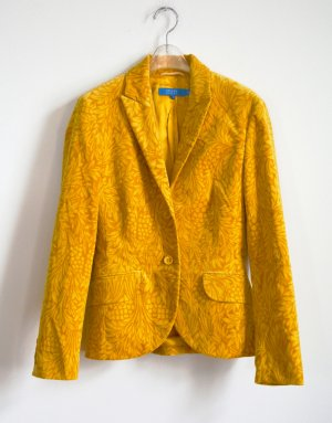 Escada Sport Blazer Jacke Samt mit floralem Print in Curry Nwtg. 34 XS