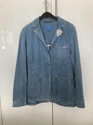 Escada Sport Blazer in jeans blu pallido