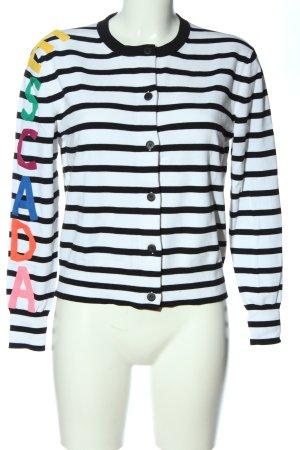 Escada Sport Cardigan schwarz-weiß Allover-Druck Casual-Look